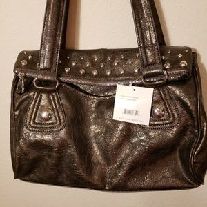 Nicole Miller Purse with Silver Studs Brown